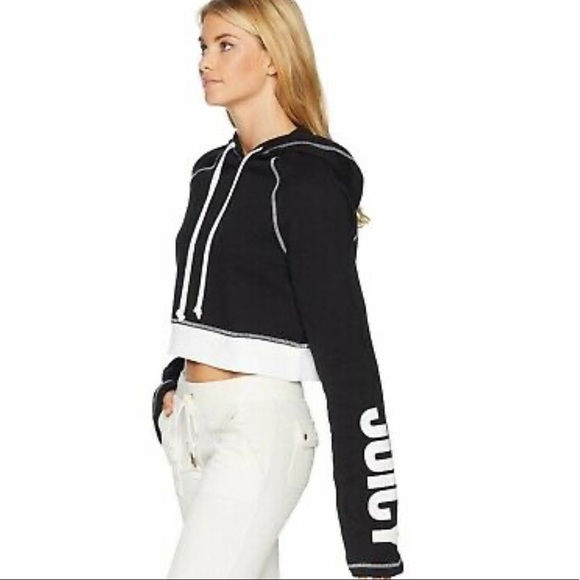 Juicy black cropped hoodie